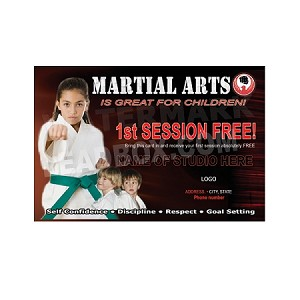 Martial Arts Postcard Design 2