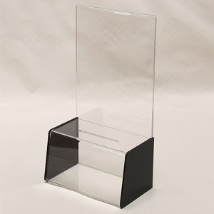 Deluxe Suggestion box with 8.5 x 11 Sign holder and black sides