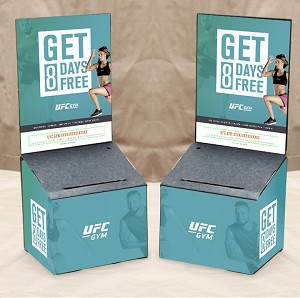 UFC Gym Marketing Kit includes: Entry Box, Graphics, Entry Pad and Security Pen
