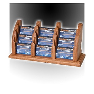 Wood(Solid Oak) 9-Pocket Business Card Holder